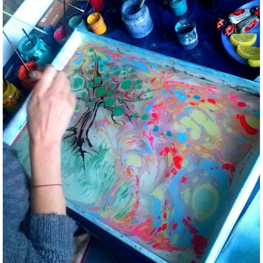 Рисовать по воде красками в домашних условиях 184