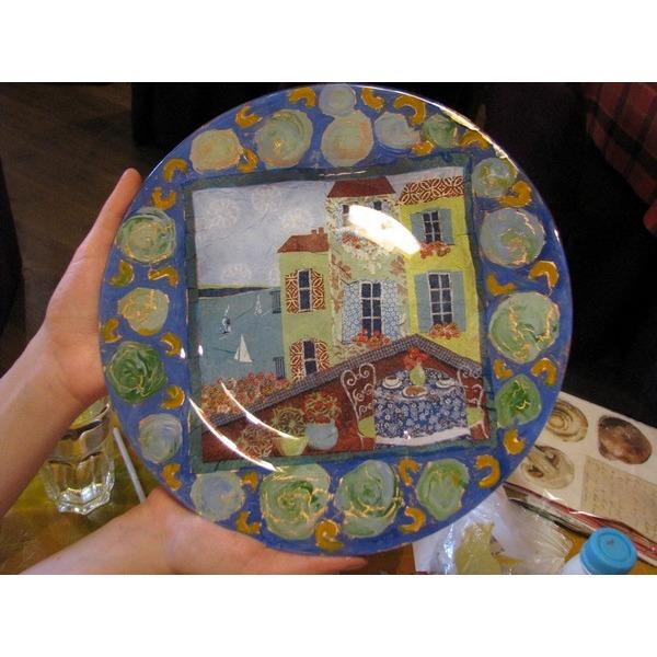 Мастер-класс по декорированию тарелки