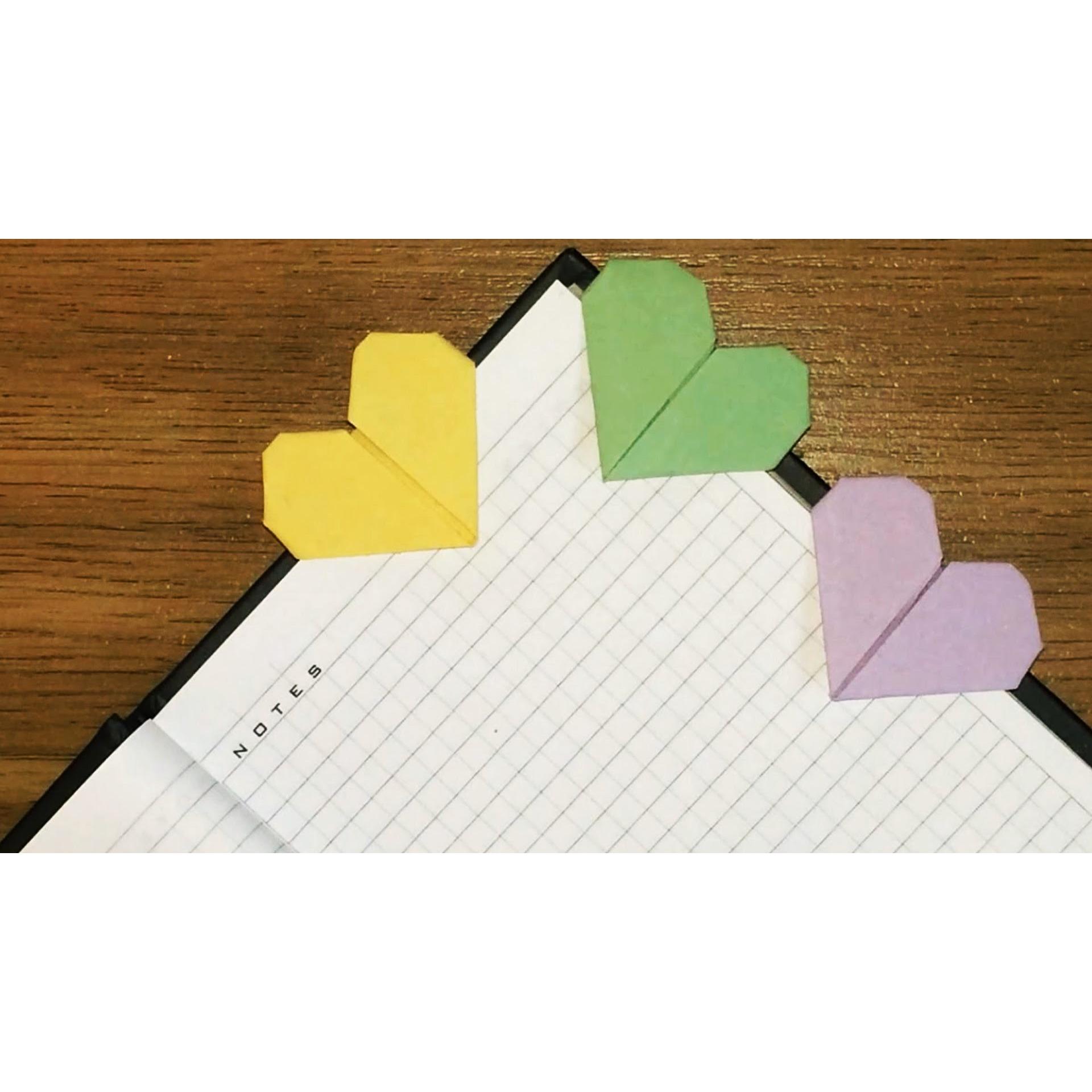 Как сделать закладку из бумаги сердечко