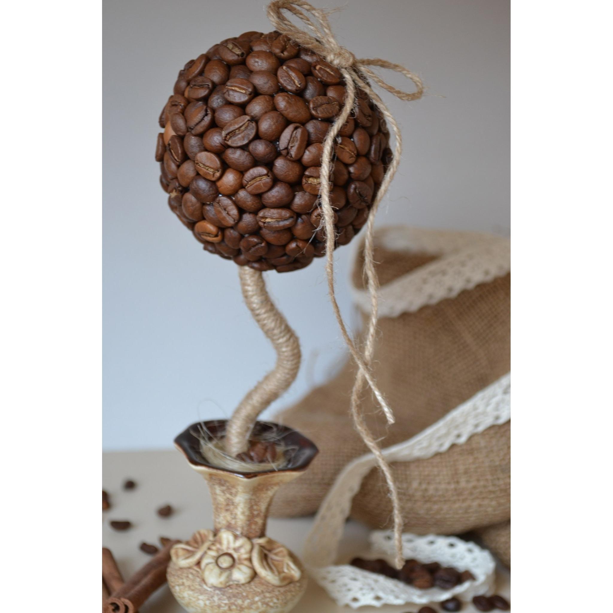 Кофейный топиарий своими руками пошаговое фото