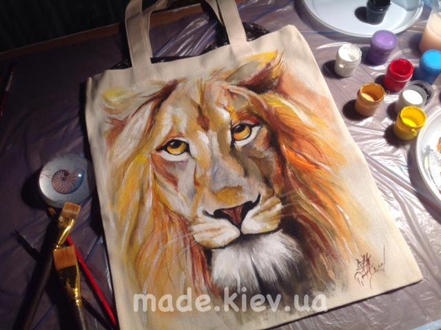 Заказ дизайнерскую сумку с ручной росписью в Киеве