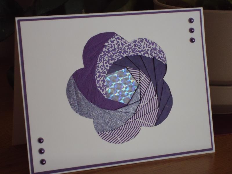 Мастер-класс по изготовлению открытки в технике айрис-фолдин на 8 марта